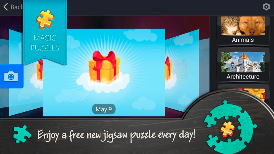 Magic Jigsaw Puzzles will offer up players a free puzzle every day