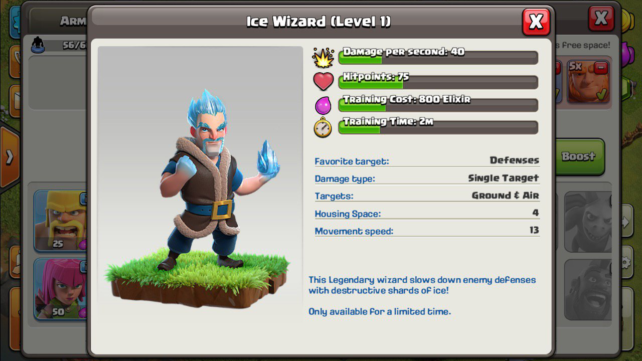 Clash of Clans ice characters