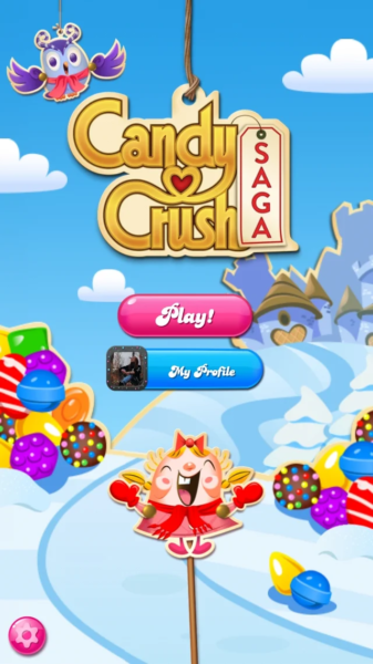 Candy Crush winter design