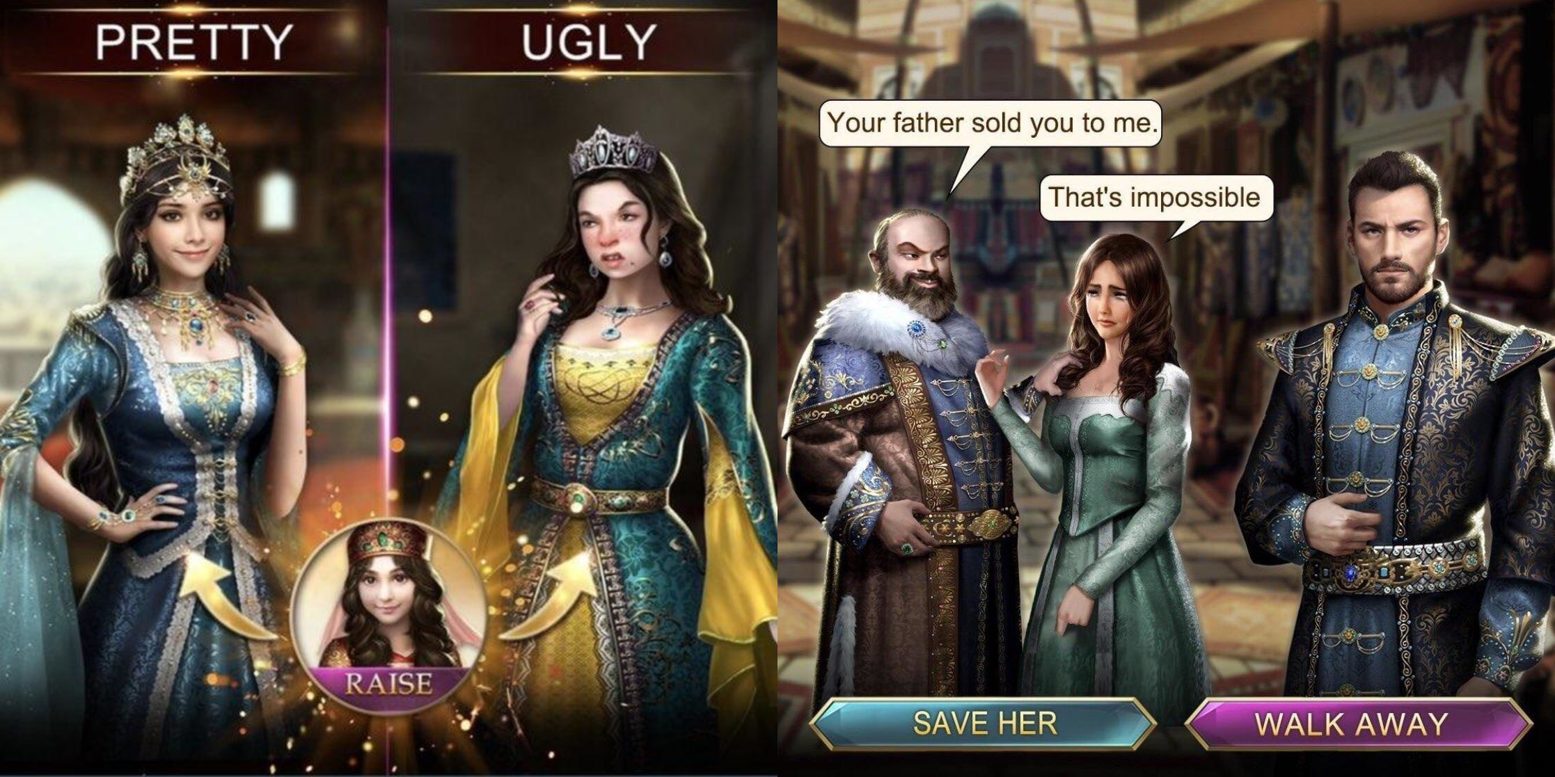 One of many strange Game of Sultans ads